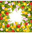 Flower background with tulips vector image vector image