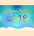 happy new year 2019 abstract festive vector image vector image