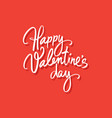 happy valentines day vintage greeting card with vector image vector image