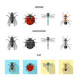 insect and fly logo set of vector image vector image