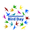 international bird day vector image vector image