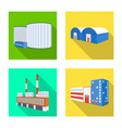 isolated object construction and equipment vector image