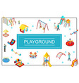 isometric kids playground concept vector image vector image