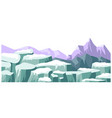 landscape with snowy picks and mountain ranges vector image