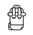 line backpack to go to exploration of vacation vector image vector image