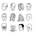 man hairstyle head set vector image vector image