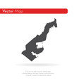 map monaco isolated black on vector image vector image
