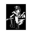miner with with pick axe and shovel vector image vector image