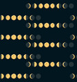 moon phases seamless pattern vector image
