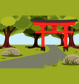 natural landscape with beautiful summer city park vector image