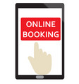 online booking sign on white background flat vector image vector image