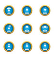 overstrain icons set flat style vector image vector image