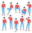 ready to animation people vector image vector image