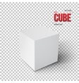 Realistic Cube Template EPS10 Grey vector image