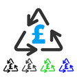 recycling pound cost flat icon vector image vector image