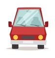 Red cartoon car front view design flat vector image vector image
