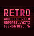retro font vintage light sign set vector image vector image
