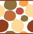 round shapes cute seamless scandinavian vector image vector image