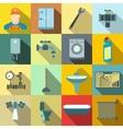 Sanitary engineering flat icons vector image