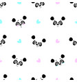 seamless background cute bear emotions on vector image vector image