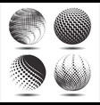 set abstract halftone 3d spheres 22 vector image vector image