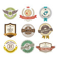 set labels and badges retro style vector image