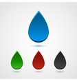 Set of abstract 3d colorful drops vector image vector image