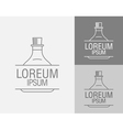 sign template Set cans flasks vector image vector image