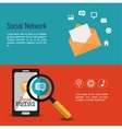 social network media infographic banner vector image vector image