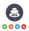 spa sign icon spa stones symbol vector image
