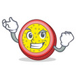 successful passion fruit character cartoon vector image