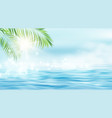 summer seascape rays sun and the vector image