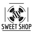 sweet shop logo simple black style vector image vector image