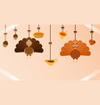 thanksgiving miscellaneous hanging vector image vector image