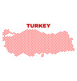 turkey map - mosaic of valentine hearts vector image vector image
