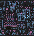 wedding birthday party seamless pattern flat vector image