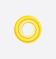 yellow spiral sun stylized icon background vector image