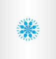 abstract blue snowflake icon symbol element vector image