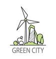 green city banner vector image