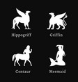 mythical creatures set vector image