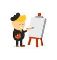 artist painter cartoon flat design vector image