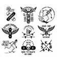 Skateboard Skeleton Design elements vector image