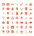 49 ecology icons vector image vector image
