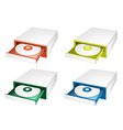 A Colorful Set of Disk Drive vector image vector image