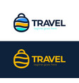 abstract dot travel colorful elements simple line vector image