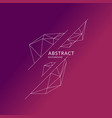 abstract polygonal objects in background low vector image vector image