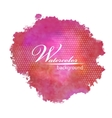 Abstract watercolor spot painted background vector image vector image