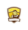 asian man drinking coffee crest woodcut vector image
