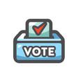 ballot voting box icon cartoon vector image
