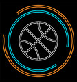basket ball - basketball vector image